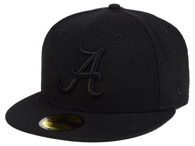 Alabama Crimson Tide New Era NCAA Core Black on Black 59FIFTY Cap