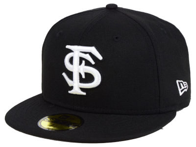 Florida State Seminoles New Era NCAA Core Black White 59FIFTY Cap