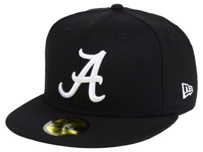 Alabama Crimson Tide New Era NCAA Core Black White 59FIFTY Cap