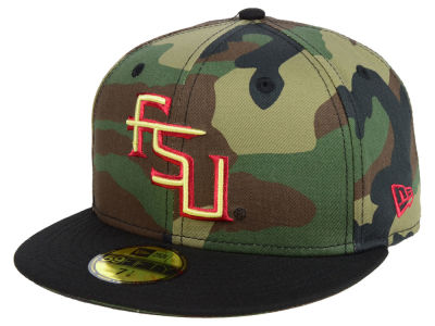 Florida State Seminoles New Era NCAA Woodland 59FIFTY Cap