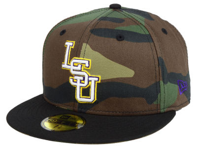 LSU Tigers New Era NCAA Woodland 59FIFTY Cap