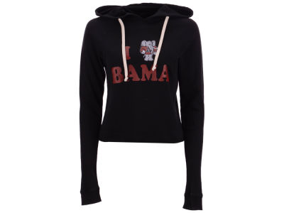 Alabama Crimson Tide Retro Brand NCAA Women's Cropped Hooded Sweatshirt