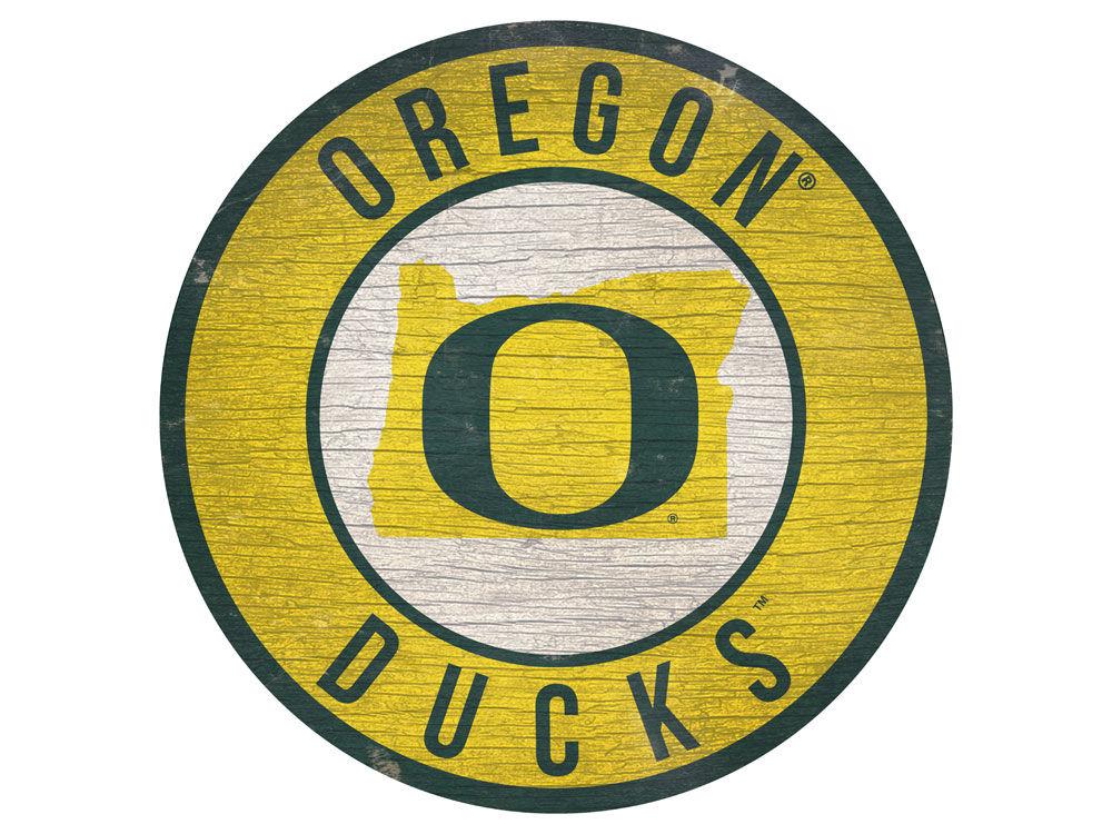 Oregon Ducks Fan Creations 12 Logo State Sign Lids