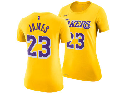 Los Angeles Lakers LeBron James Nike NBA Womens Player T-Shirt