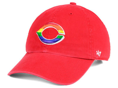 Cincinnati Reds '47 MLB Pride CLEAN UP Cap