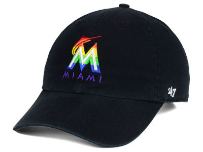 Miami Marlins '47 MLB Pride CLEAN UP Cap