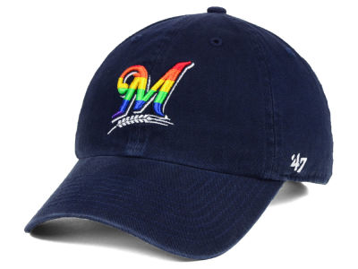 Milwaukee Brewers '47 MLB Pride CLEAN UP Cap