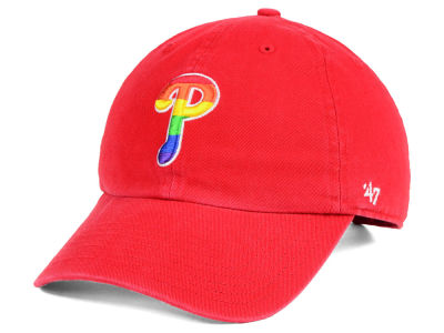 Philadelphia Phillies '47 MLB Pride CLEAN UP Cap