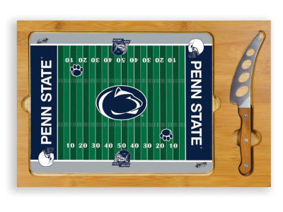 Penn State Nittany Lions Picnic Time Icon Glass Top Serving Tray & Knife Set