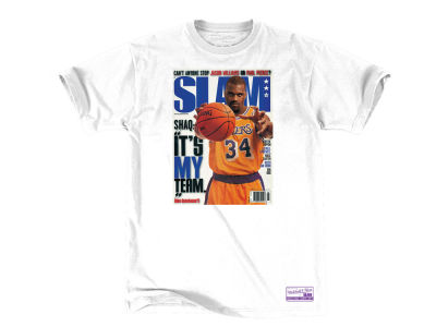 Los Angeles Lakers Shaquille O'Neal Mitchell & Ness NBA Men's Slam Cover T-shirt