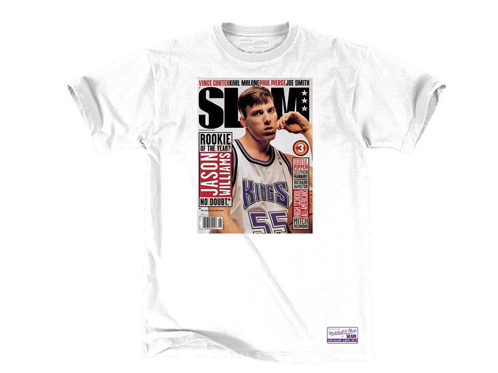 5acd13f76 Sacramento Kings Jason Williams Mitchell   Ness NBA Men s Slam Cover T-shirt.  Top. Sacramento ...