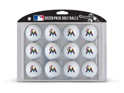 Miami Marlins Team Golf Golf Balls, 12 Pack