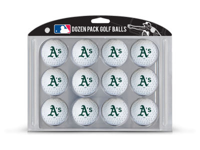 Oakland Athletics Team Golf Golf Balls, 12 Pack