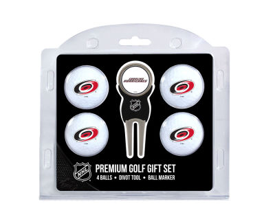 Carolina Hurricanes Team Golf 4 Golf Ball And Divot Tool Set
