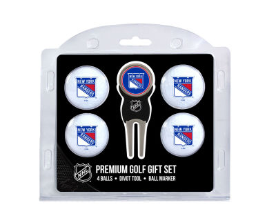 New York Rangers Team Golf 4 Golf Ball And Divot Tool Set