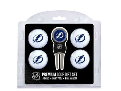 Tampa Bay Lightning Team Golf 4 Golf Ball And Divot Tool Set