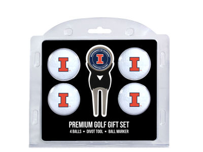 Illinois Fighting Illini Team Golf 4 Golf Ball And Divot Tool Set
