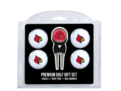 Louisville Cardinals Team Golf 4 Golf Ball And Divot Tool Set
