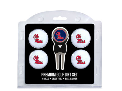 Ole Miss Rebels Team Golf 4 Golf Ball And Divot Tool Set