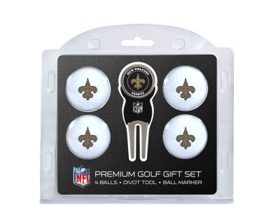 New Orleans Saints Team Golf 4 Golf Ball And Divot Tool Set