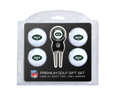 New York Jets Team Golf 4 Golf Ball And Divot Tool Set