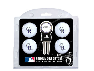 Colorado Rockies Team Golf 4 Golf Ball And Divot Tool Set