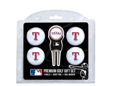 Texas Rangers Team Golf 4 Golf Ball And Divot Tool Set