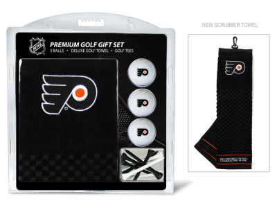 Philadelphia Flyers Team Golf Golf Towel, 3 Golf Ball, and Golf Tee Set