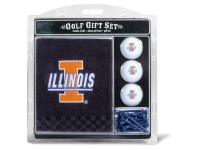 Illinois Fighting Illini Team Golf Golf Towel, 3 Golf Ball, and Golf Tee Set
