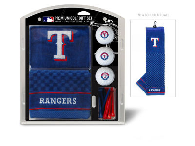Texas Rangers Team Golf Golf Towel, 3 Golf Ball, and Golf Tee Set