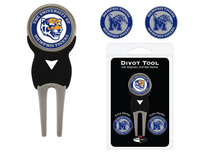 Memphis Tigers Team Golf Divot Tool Pack With 3 Golf Ball Markers