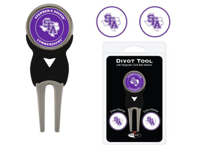 Stephen F. Austin Lumberjacks Team Golf Divot Tool Pack With 3 Golf Ball Markers