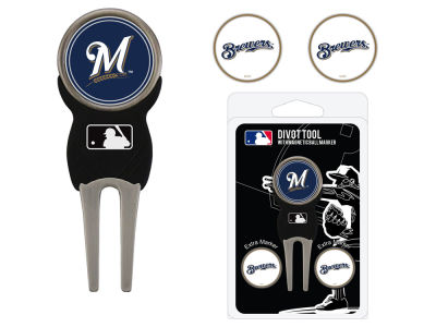 Milwaukee Brewers Team Golf Divot Tool Pack With 3 Golf Ball Markers