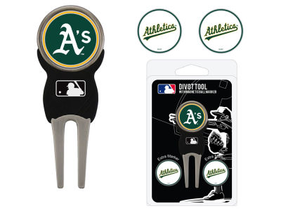 Oakland Athletics Team Golf Divot Tool Pack With 3 Golf Ball Markers