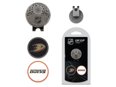 Anaheim Ducks Team Golf Cap Clip With 2 Golf Ball Markers