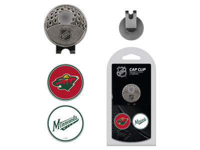 Minnesota Wild Team Golf Cap Clip With 2 Golf Ball Markers