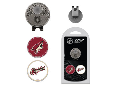 Arizona Coyotes Team Golf Cap Clip With 2 Golf Ball Markers
