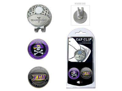 East Carolina Pirates Team Golf Cap Clip With 2 Golf Ball Markers