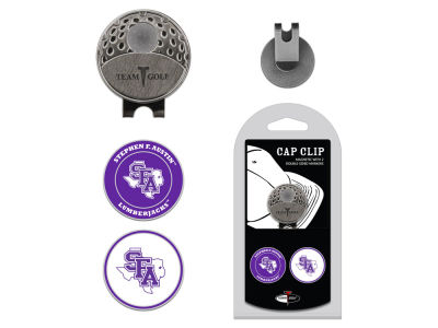 Stephen F. Austin Lumberjacks Team Golf Cap Clip With 2 Golf Ball Markers