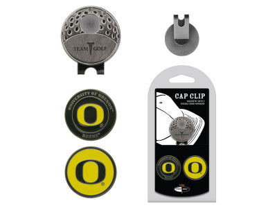 Oregon Ducks Team Golf Cap Clip With 2 Golf Ball Markers