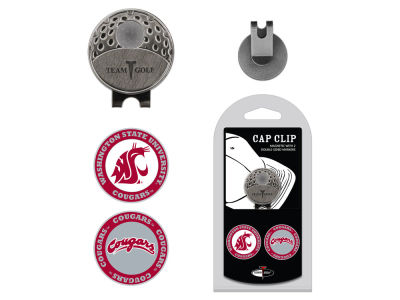 Washington State Cougars Team Golf Cap Clip With 2 Golf Ball Markers