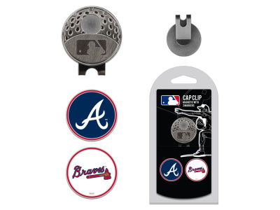 Atlanta Braves Team Golf Cap Clip With 2 Golf Ball Markers