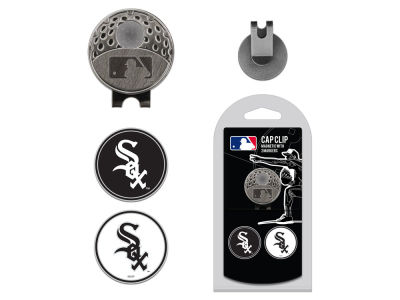 Chicago White Sox Team Golf Cap Clip With 2 Golf Ball Markers
