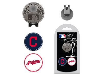 Cleveland Indians Team Golf Cap Clip With 2 Golf Ball Markers