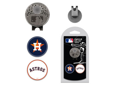 Houston Astros Team Golf Cap Clip With 2 Golf Ball Markers