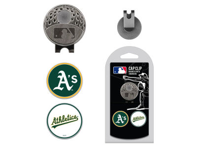 Oakland Athletics Team Golf Cap Clip With 2 Golf Ball Markers