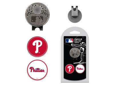 Philadelphia Phillies Team Golf Cap Clip With 2 Golf Ball Markers