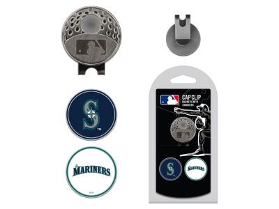 Seattle Mariners Team Golf Cap Clip With 2 Golf Ball Markers