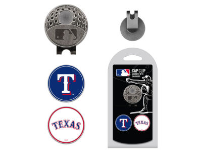 Texas Rangers Team Golf Cap Clip With 2 Golf Ball Markers