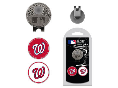 Washington Nationals Team Golf Cap Clip With 2 Golf Ball Markers